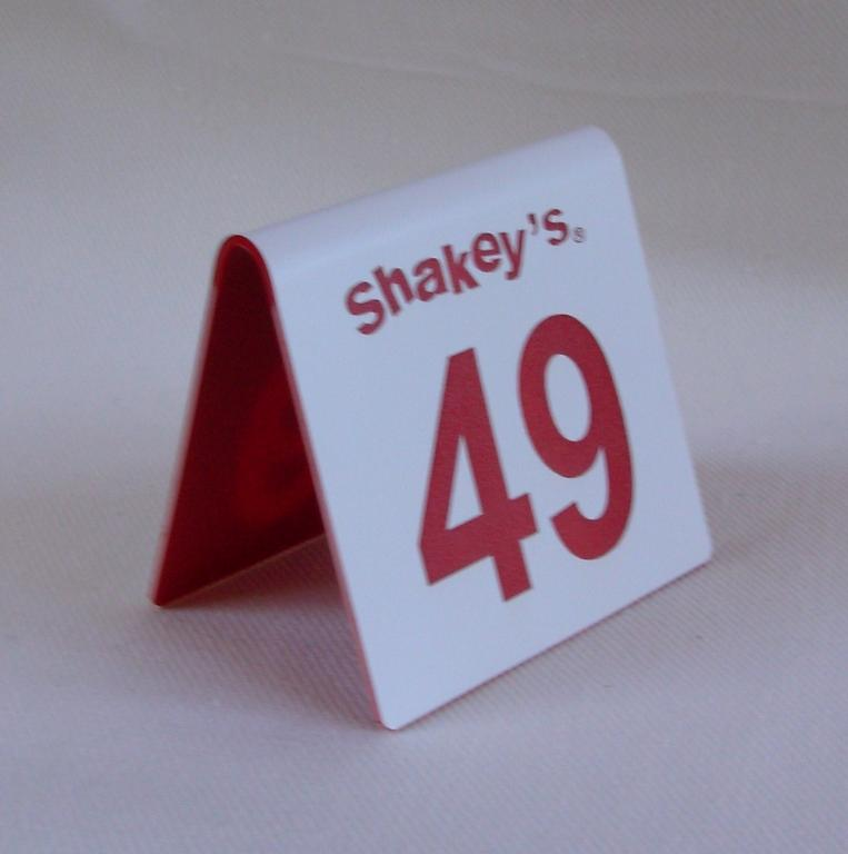 Numbers Hospitality Signs - Custom restaurant table numbers